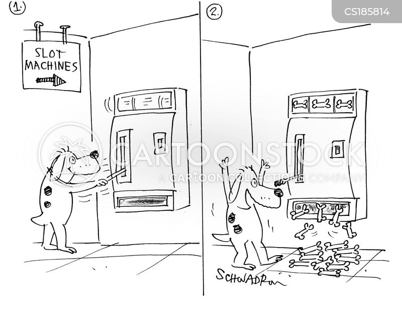 slot machines cartoon