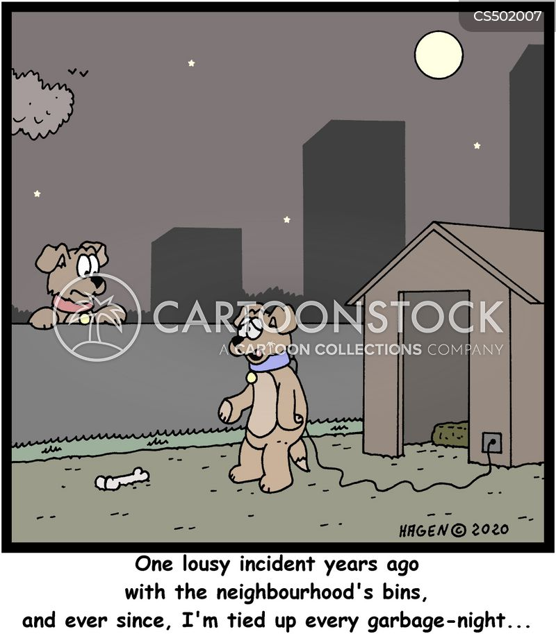 garbage collections cartoon