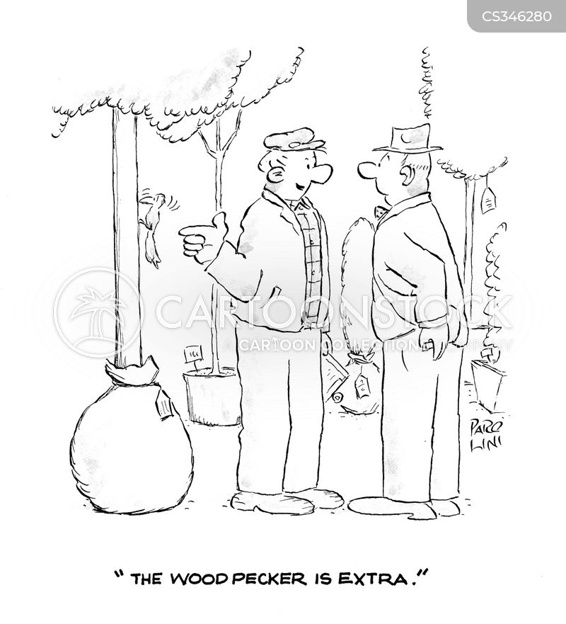 potted trees cartoon