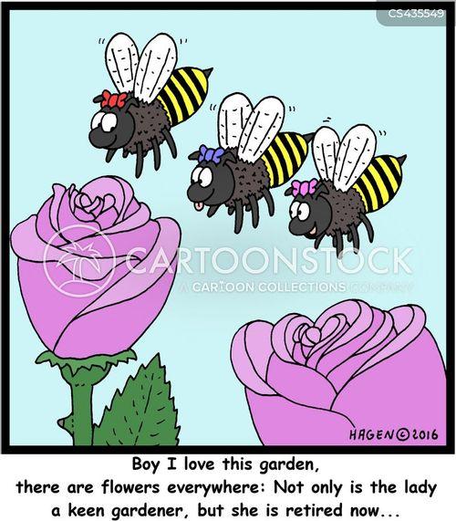 keen gardeners cartoon