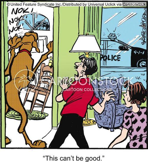 barricades cartoon