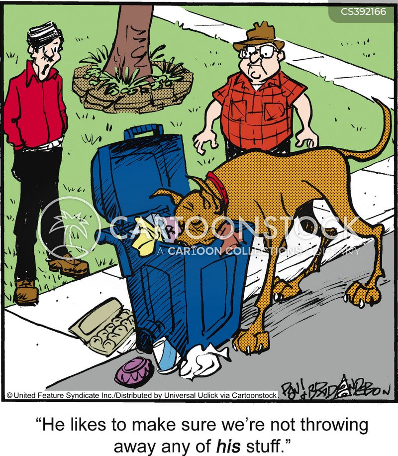 throwing away cartoon