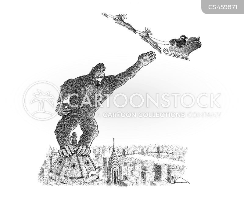 giant monkey cartoon