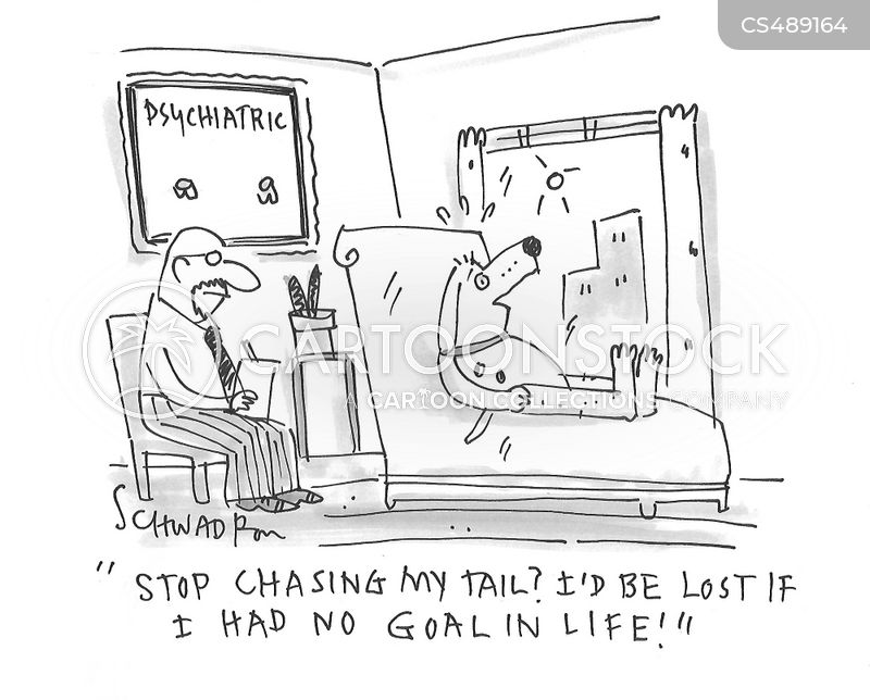 chasing your tail cartoon