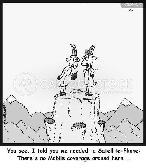 satellite phones cartoon