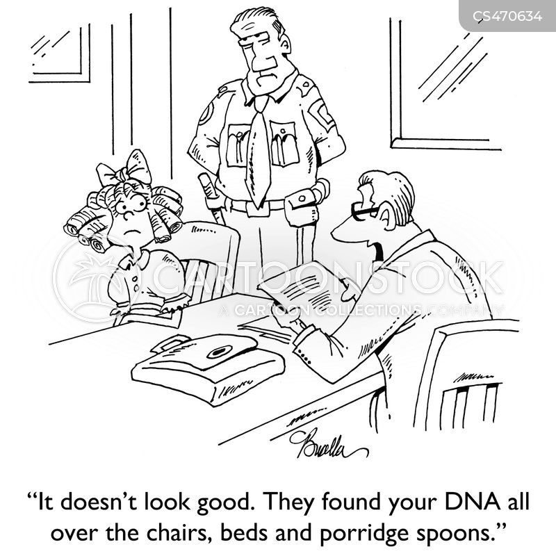 dna evidence cartoon