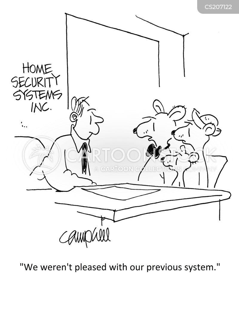 home invader cartoon