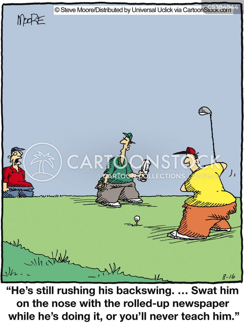backswing cartoon