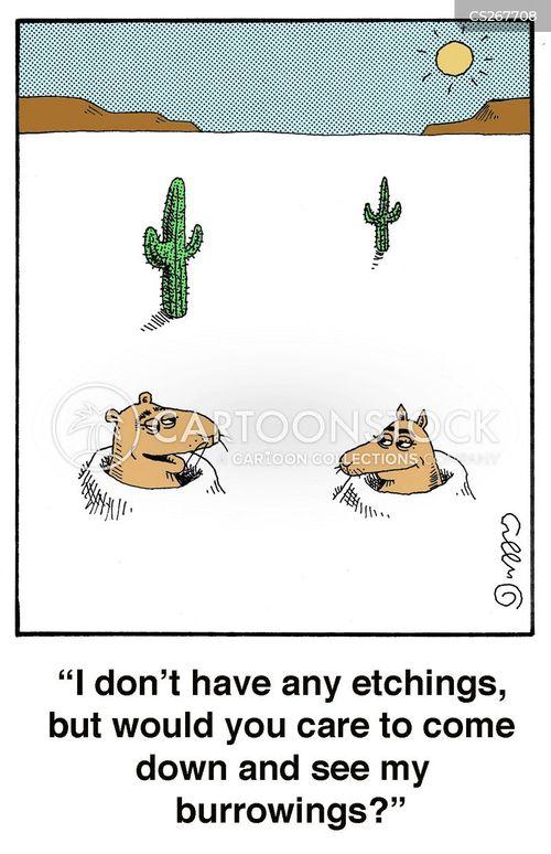 etching cartoon