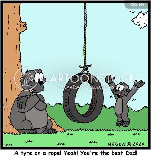 tyre swing cartoon