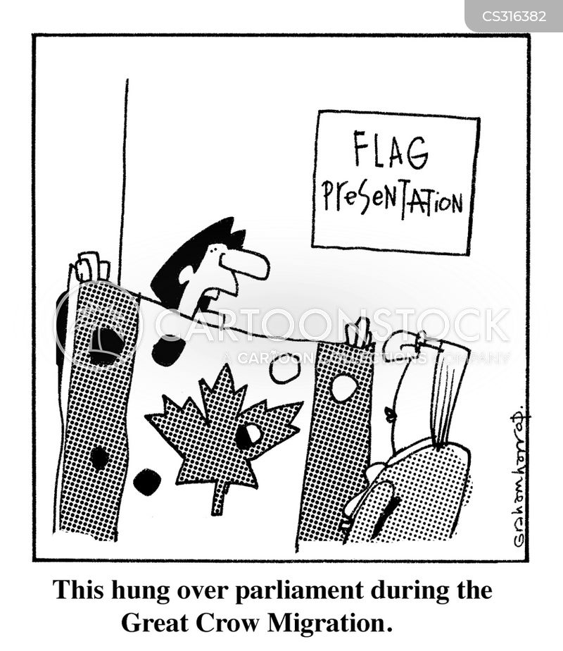canadian flag cartoon