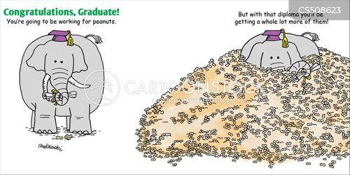 paycheque cartoon