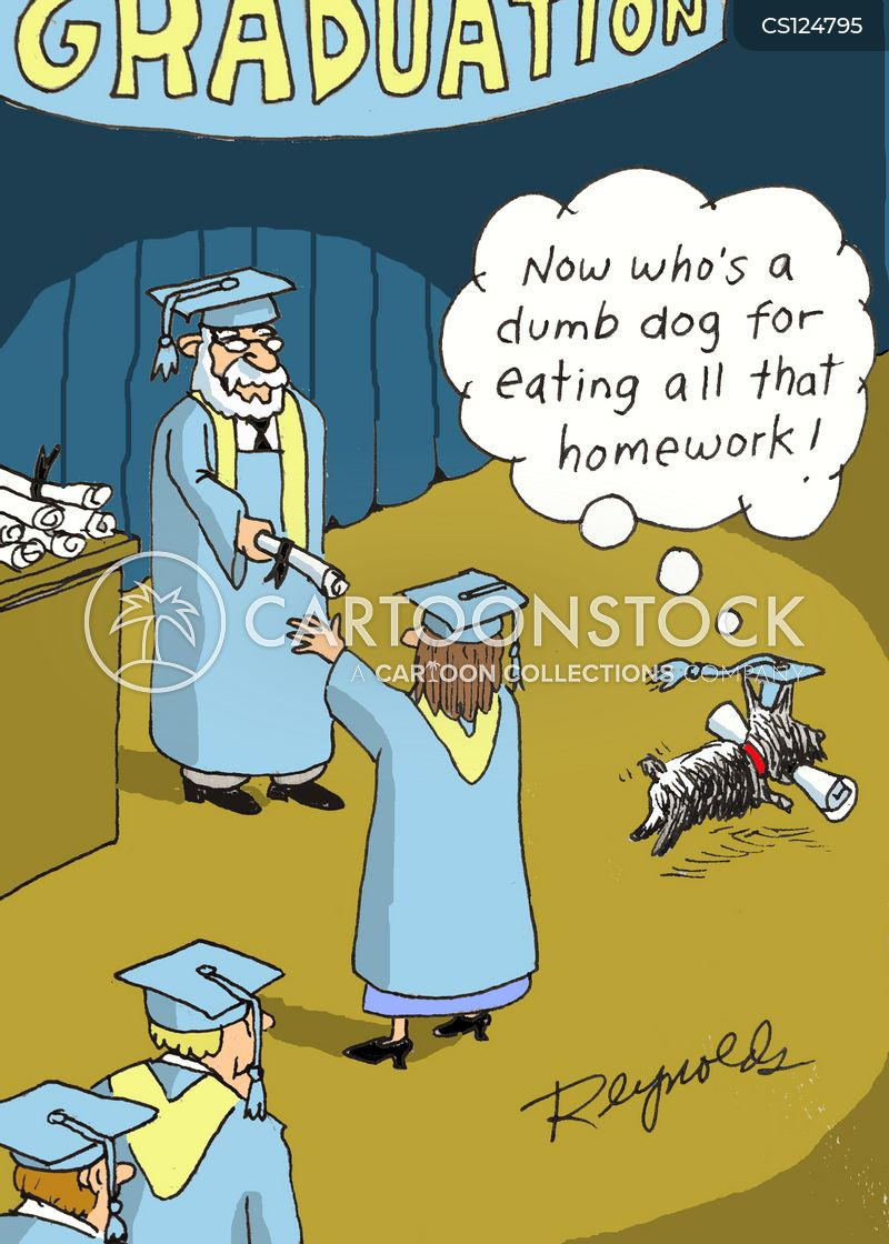 grad cartoon
