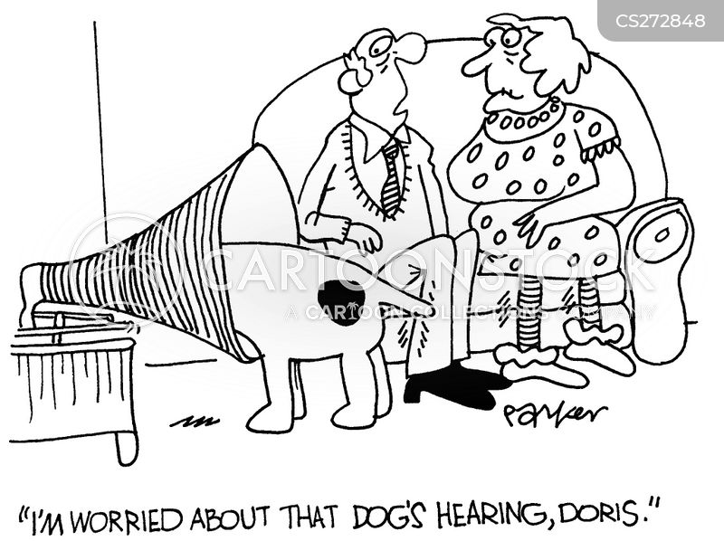 deaf dog cartoon