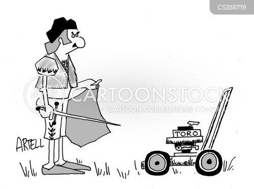 cut the grass cartoon