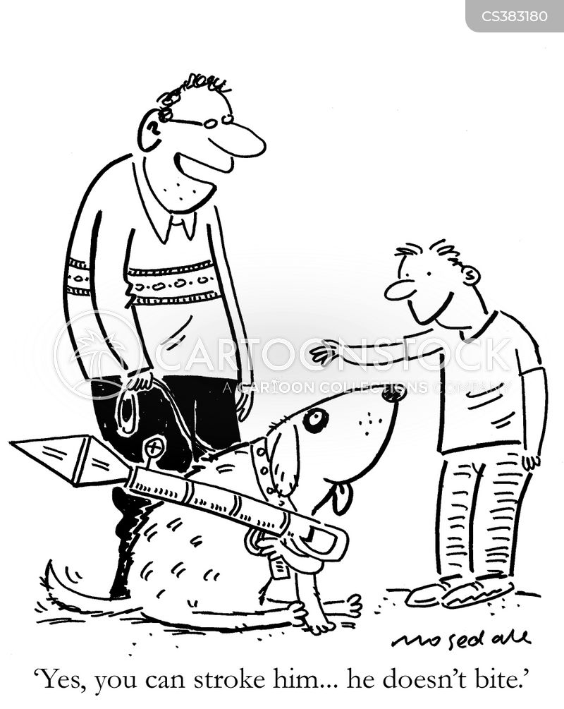 friendly dogs cartoon