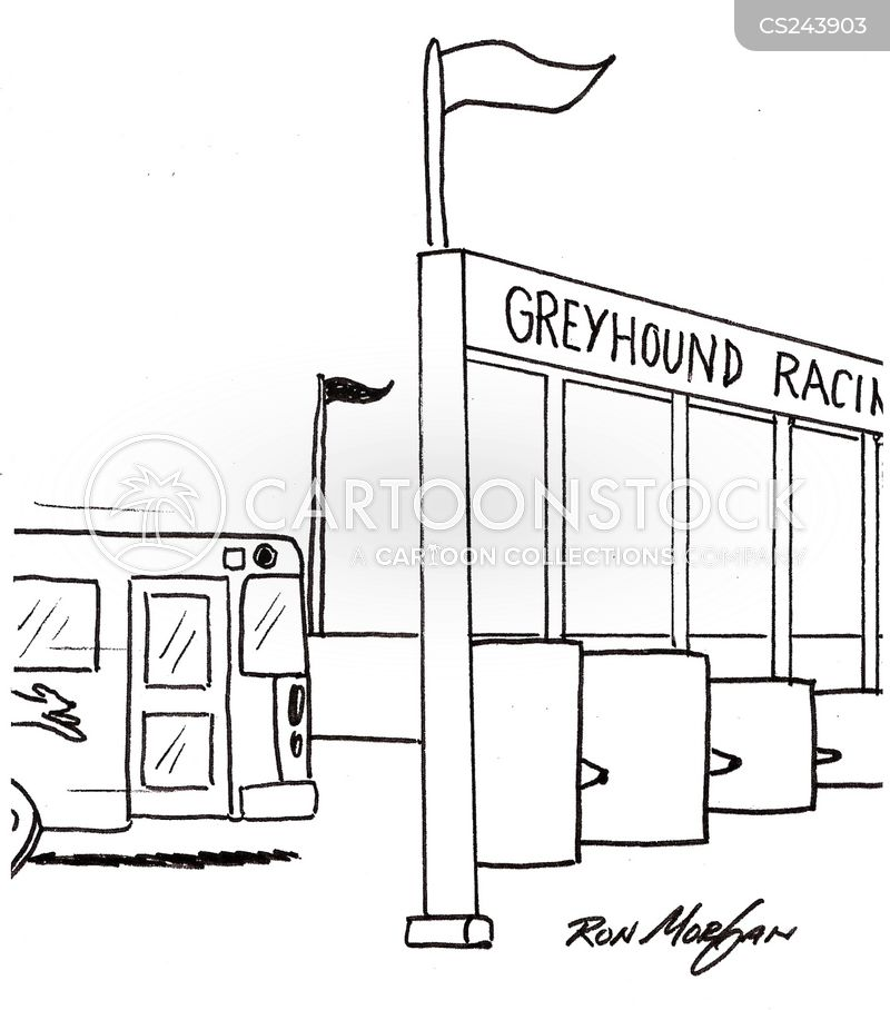 racetrack cartoon