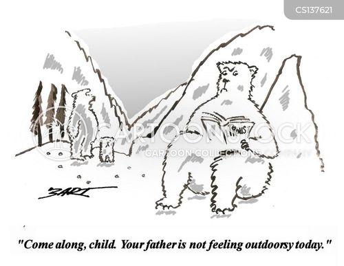 family trips cartoon