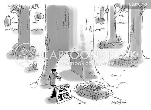 toll road cartoon