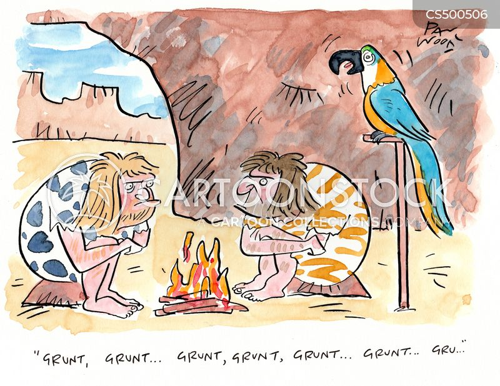 development of language cartoon