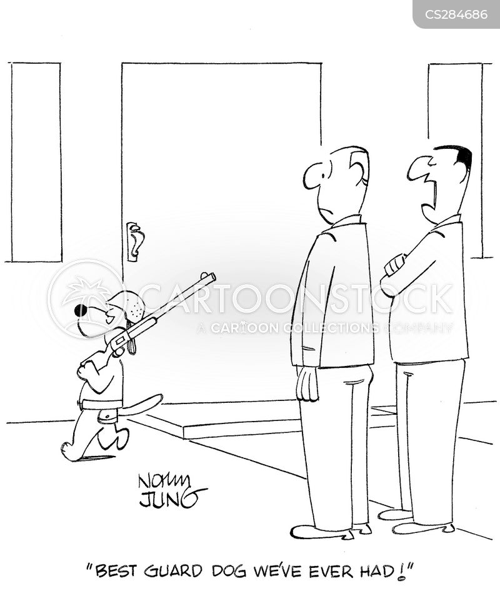 dog handler cartoon