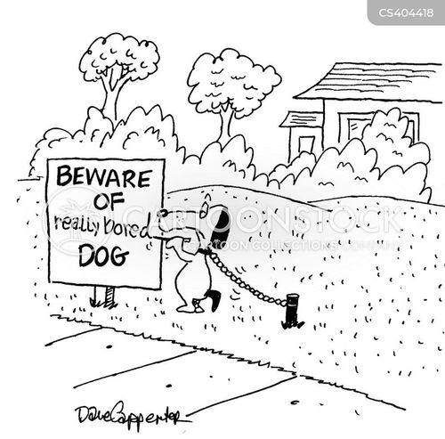 dog attack cartoon