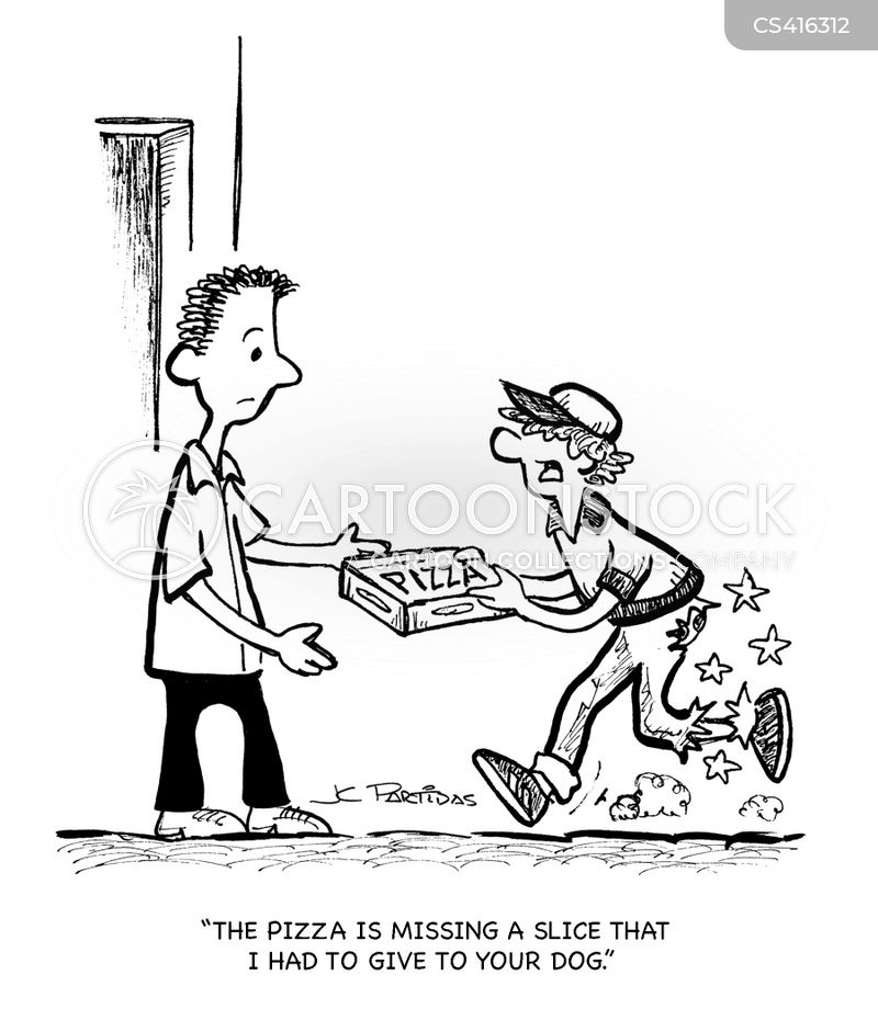 delivery guy cartoon