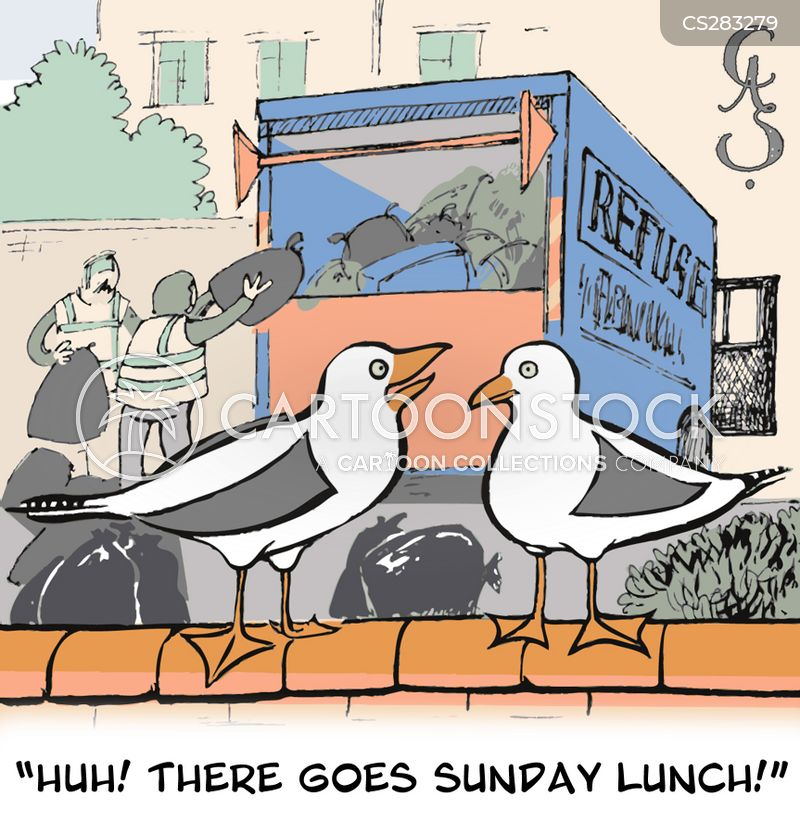 sunday lunch cartoon