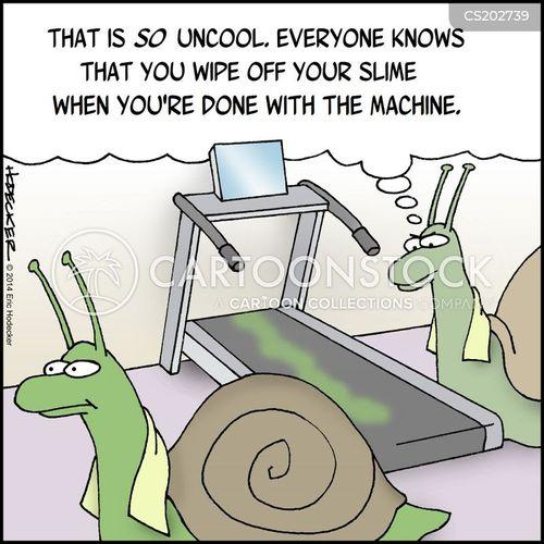 running machine cartoon