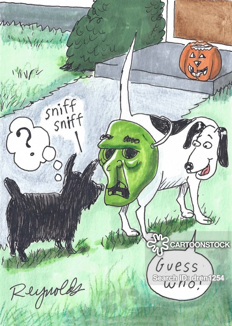 Image result for funny dog cartoons halloween