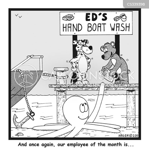 hand washes cartoon