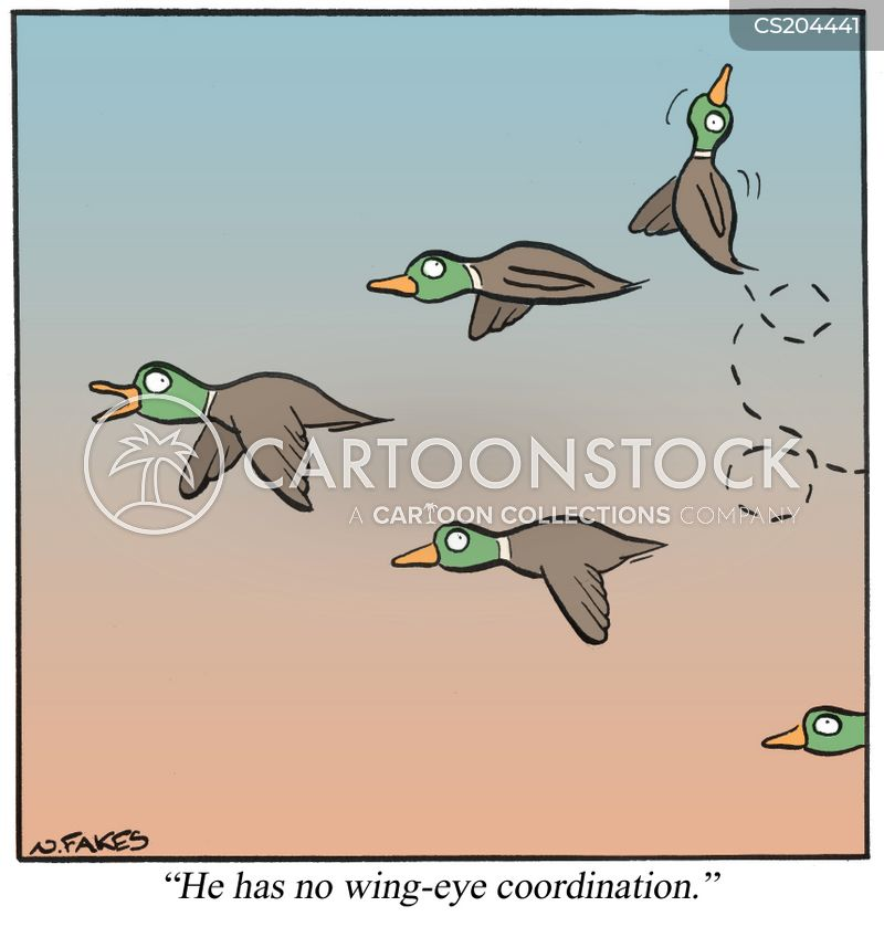 hand eye co-ordination cartoon