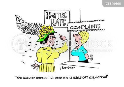 hat shop cartoon