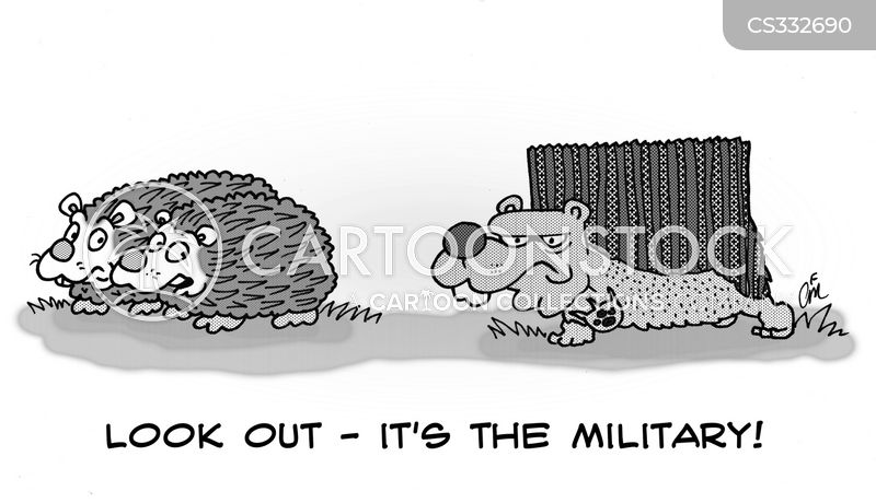military personnel cartoon