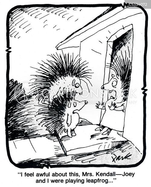 spiny cartoon