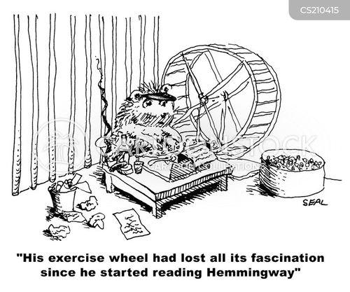 exercise wheel cartoon