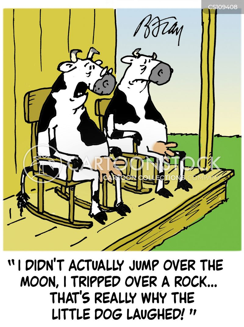cow jumped over the moon cartoon