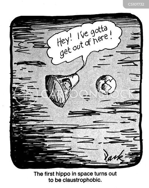 enclosed spaces cartoon