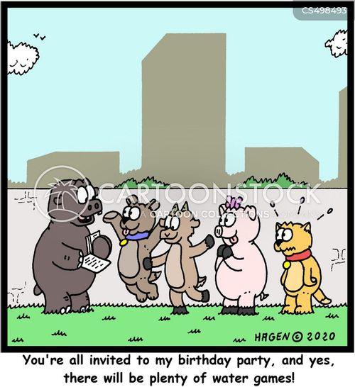 party invites cartoon