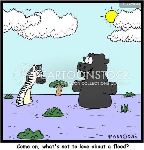 river horses cartoon