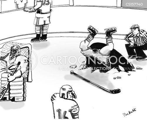 playing hockey cartoon
