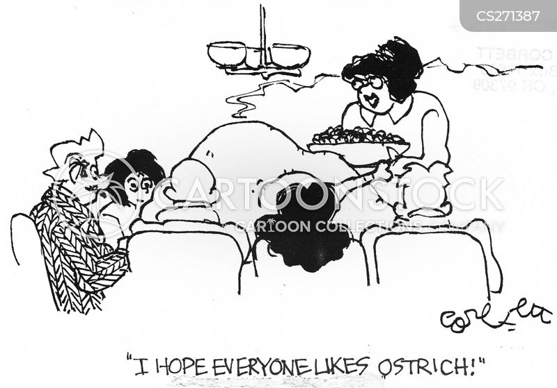 holiday food cartoon