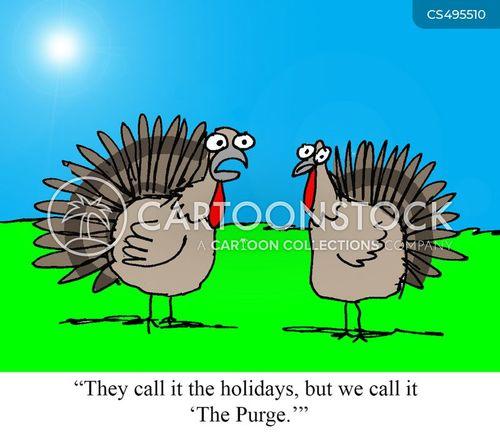 turkey farmer cartoon
