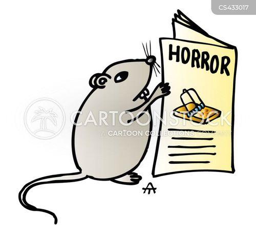 horror novels cartoon