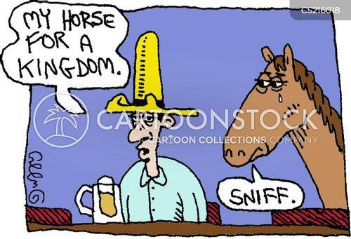 my kingdom for a horse cartoon
