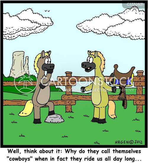 equestrianism cartoon