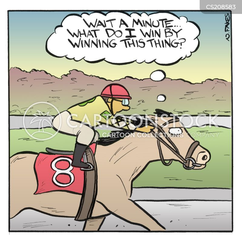 race track cartoon