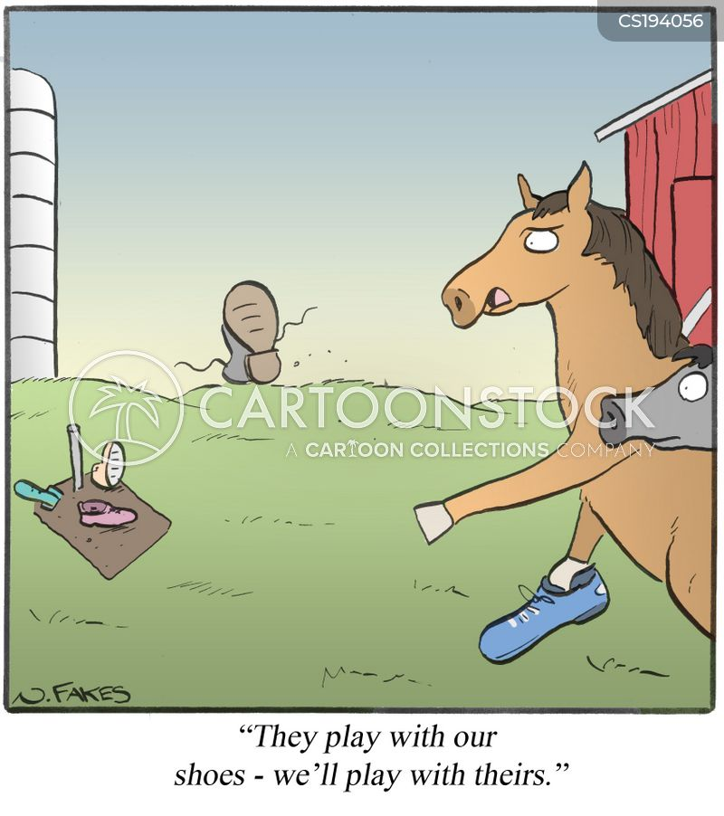 horse shoe cartoon