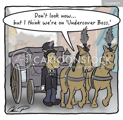 horse carts cartoon