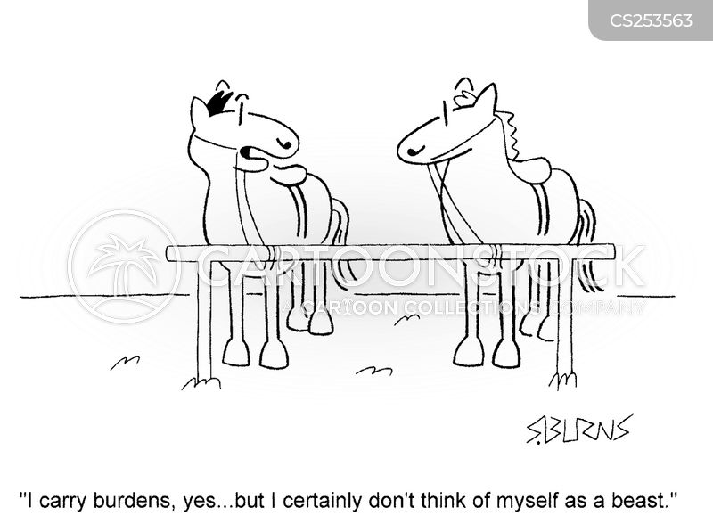 work horse cartoon